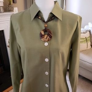 Coldwater Olive Shirt (Necklace sold separately)